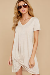 1 The Oatmeal Triblend Side Knot Dress at reddress.com