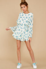 4 All About Spring Ivory Floral Print Romper at reddress.com