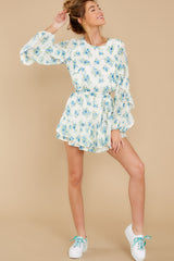 5 All About Spring Ivory Floral Print Romper at reddress.com