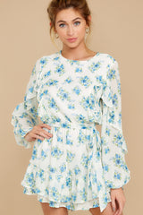 8 All About Spring Ivory Floral Print Romper at reddress.com