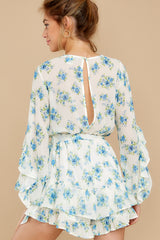 2 All About Spring Ivory Floral Print Romper at reddress.com