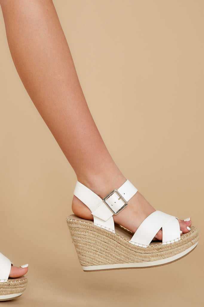 1 Minutes To Midnight White Wedges at reddress.com