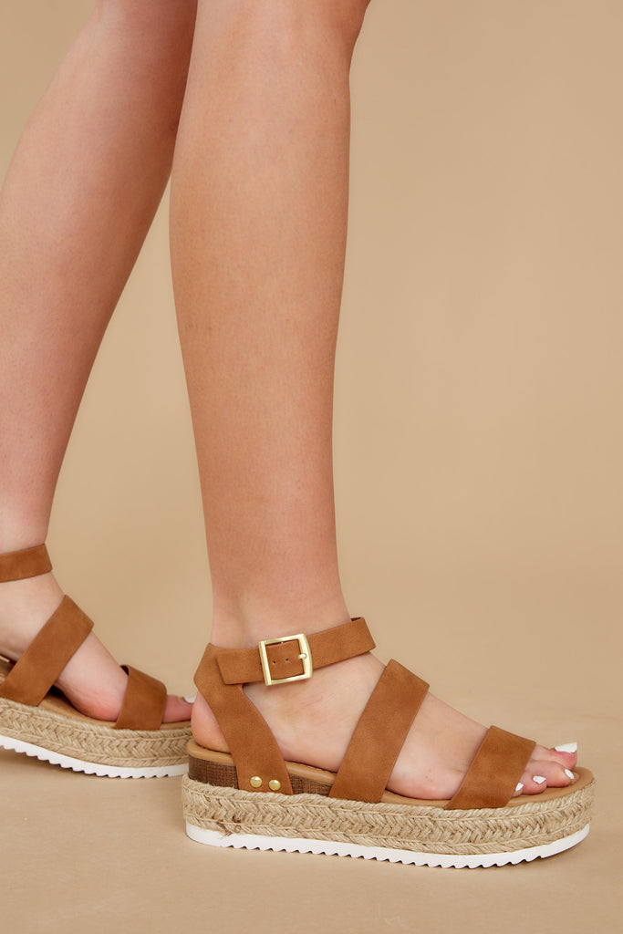1 Walk To Me Ivory Flatform Sandals at reddressboutique.com