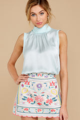 8 The Rational Choice White Embroidered Floral Skirt at reddress.com