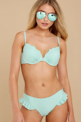 5 As Long As We're Together Mint Bikini Top at reddress.com