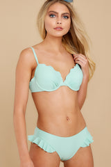 7 As Long As We're Together Mint Bikini Top at reddress.com