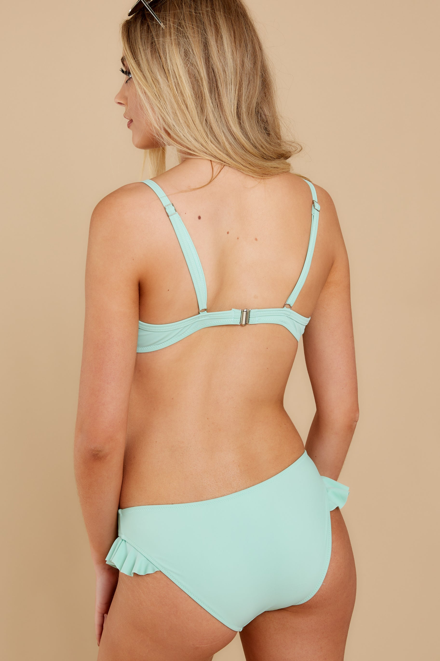8 As Long As We're Together Mint Bikini Top at reddress.com