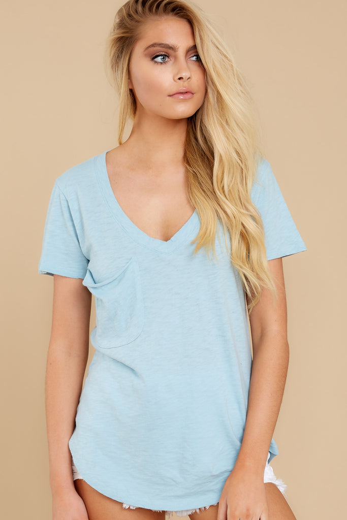1 The Slate Rose Mya V Neck Tee at reddress.com