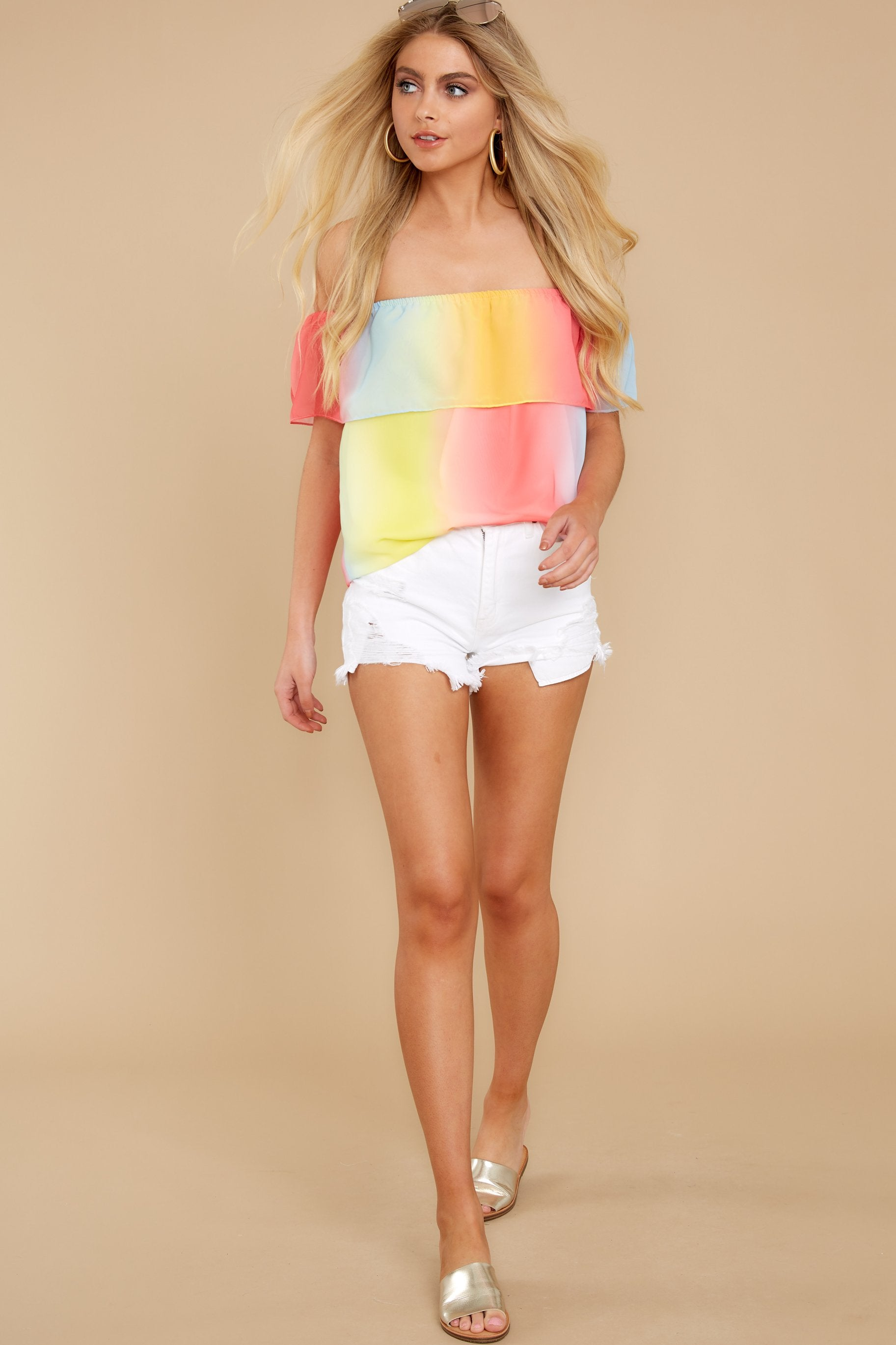 2 Sorbet With Sunshine Yellow Multi Top at reddress.com