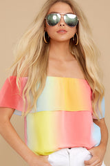 1 Sorbet With Sunshine Yellow Multi Top at reddress.com