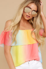 4 Sorbet With Sunshine Yellow Multi Top at reddress.com