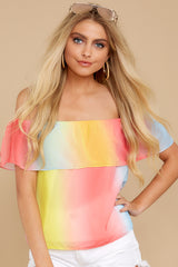 5 Sorbet With Sunshine Yellow Multi Top at reddress.com
