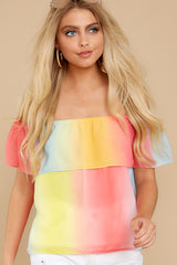 6 Sorbet With Sunshine Yellow Multi Top at reddress.com