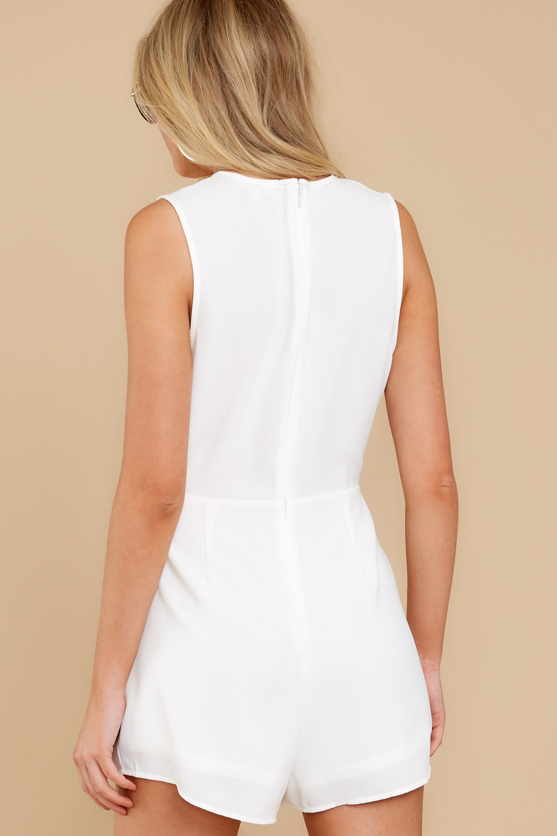 8 Worth Your While White Romper at reddress.com