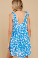 8 Girl On Fire Blue Floral Print Dress at reddress.com