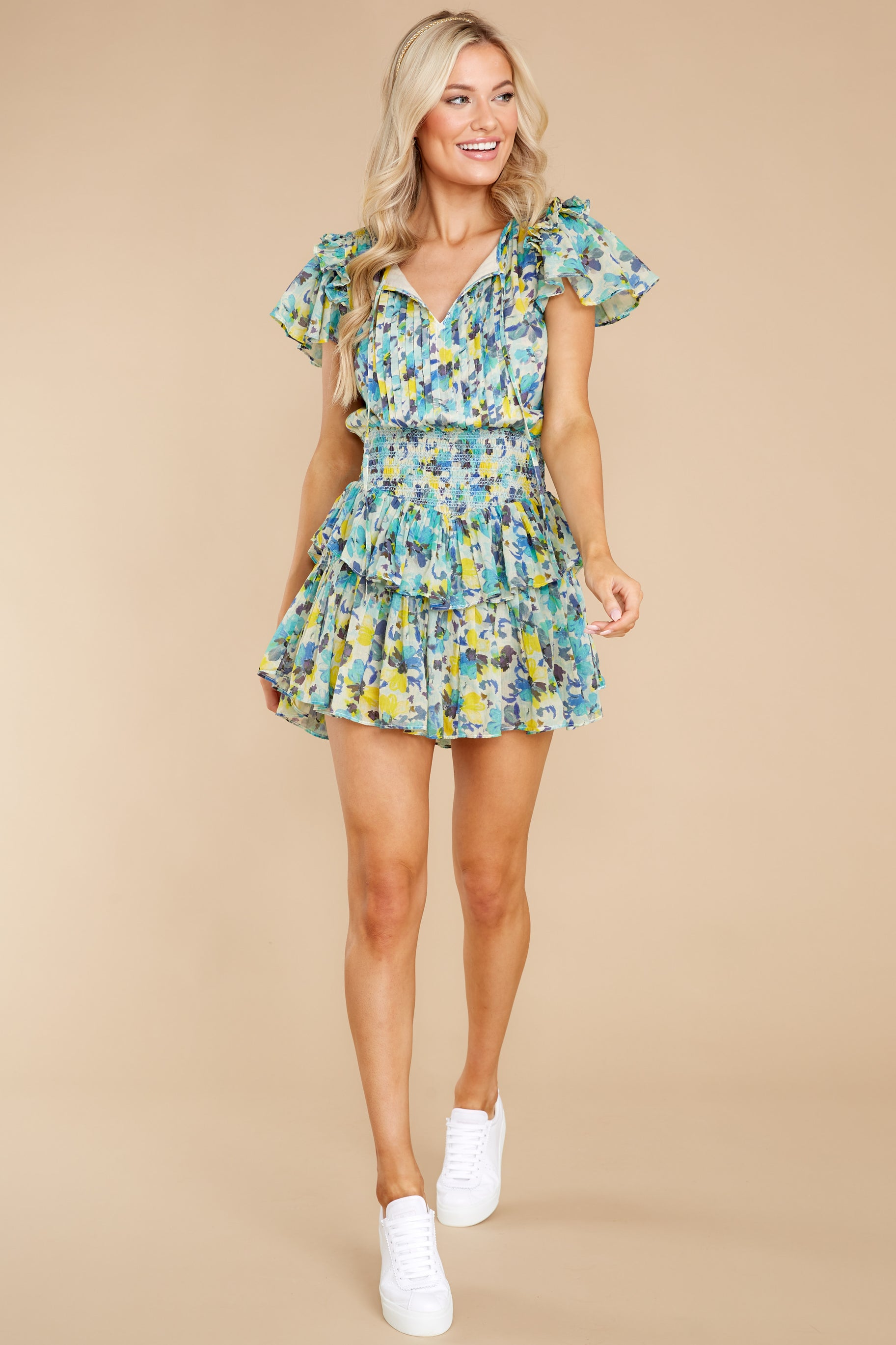 5 Audette Acai Berry Floral Print Dress at reddress.com