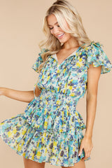 6 Audette Acai Berry Floral Print Dress at reddress.com