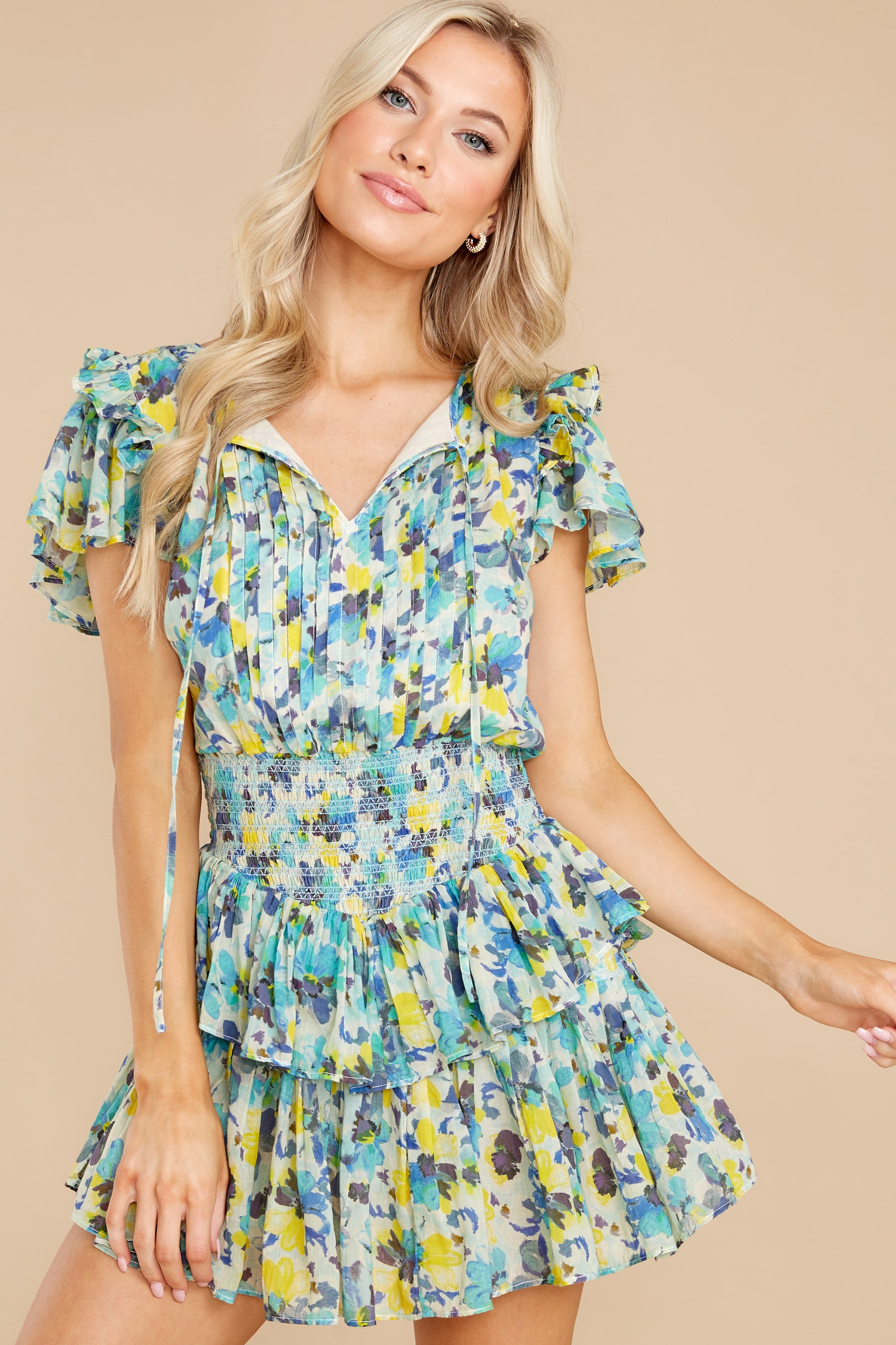 7 Audette Acai Berry Floral Print Dress at reddress.com