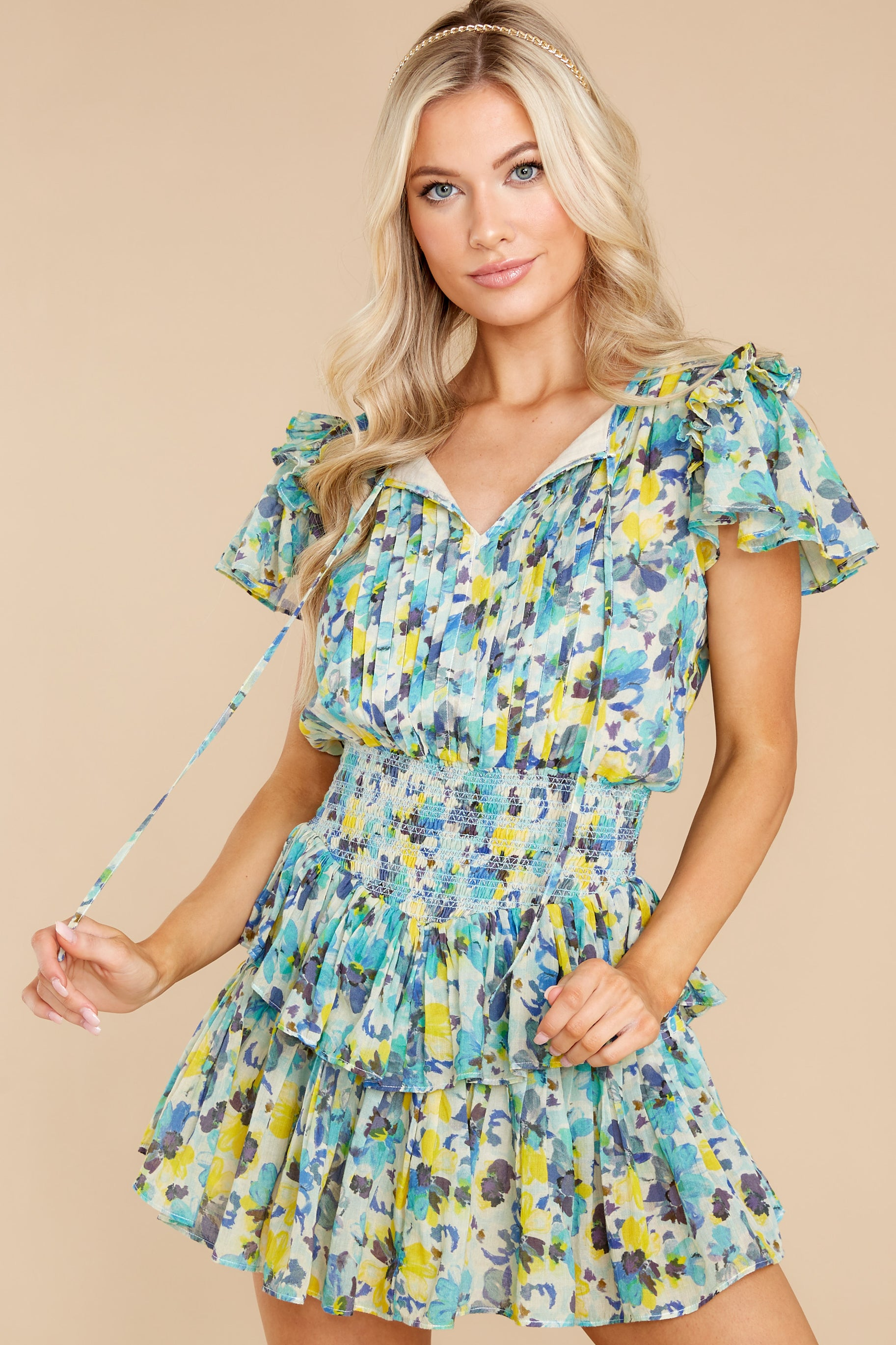 8 Audette Acai Berry Floral Print Dress at reddress.com