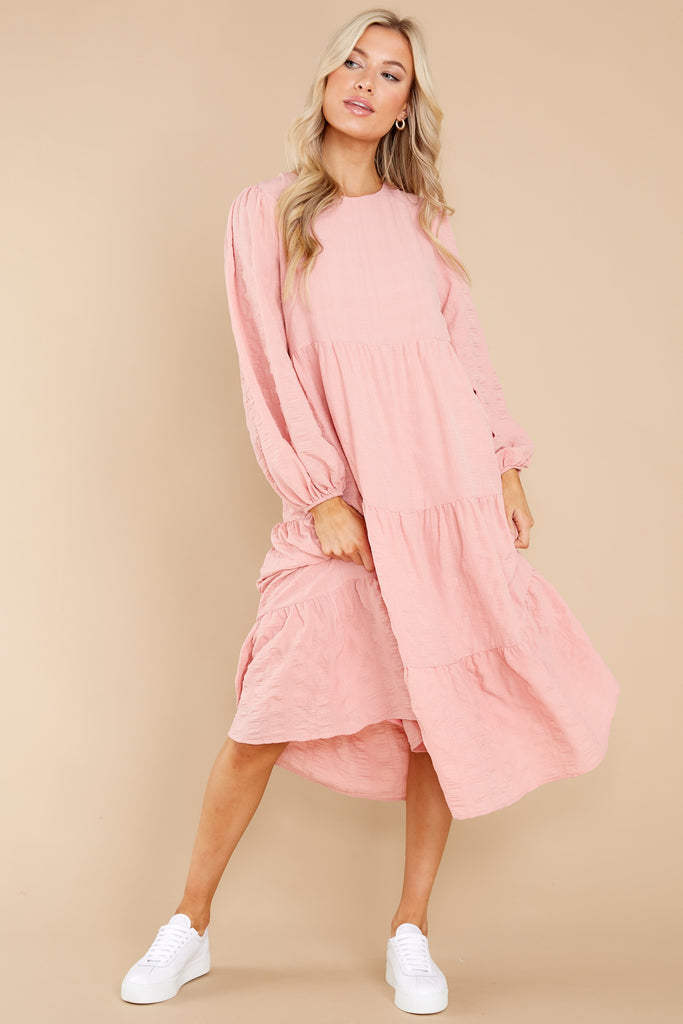 1 Going For This Peach Maxi Dress at reddress.com