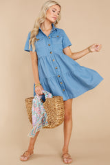 1 Love Deeply Chambray Button Up Dress at reddress.com