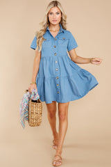 2 Love Deeply Chambray Button Up Dress at reddress.com