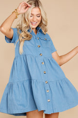 8 Love Deeply Chambray Button Up Dress at reddress.com