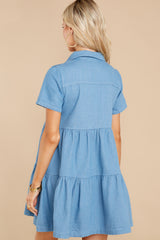 9 Love Deeply Chambray Button Up Dress at reddress.com