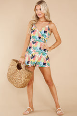 1 Gone For The Weekend White Multi Print Romper at reddress.com