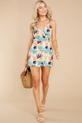 2 Gone For The Weekend White Multi Print Romper at reddress.com