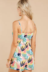 8 Gone For The Weekend White Multi Print Romper at reddress.com