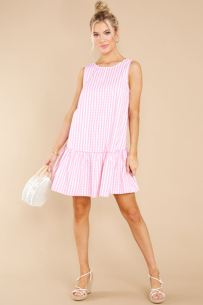 1 Here For The Sunshine Pink Gingham Dress at reddress.com