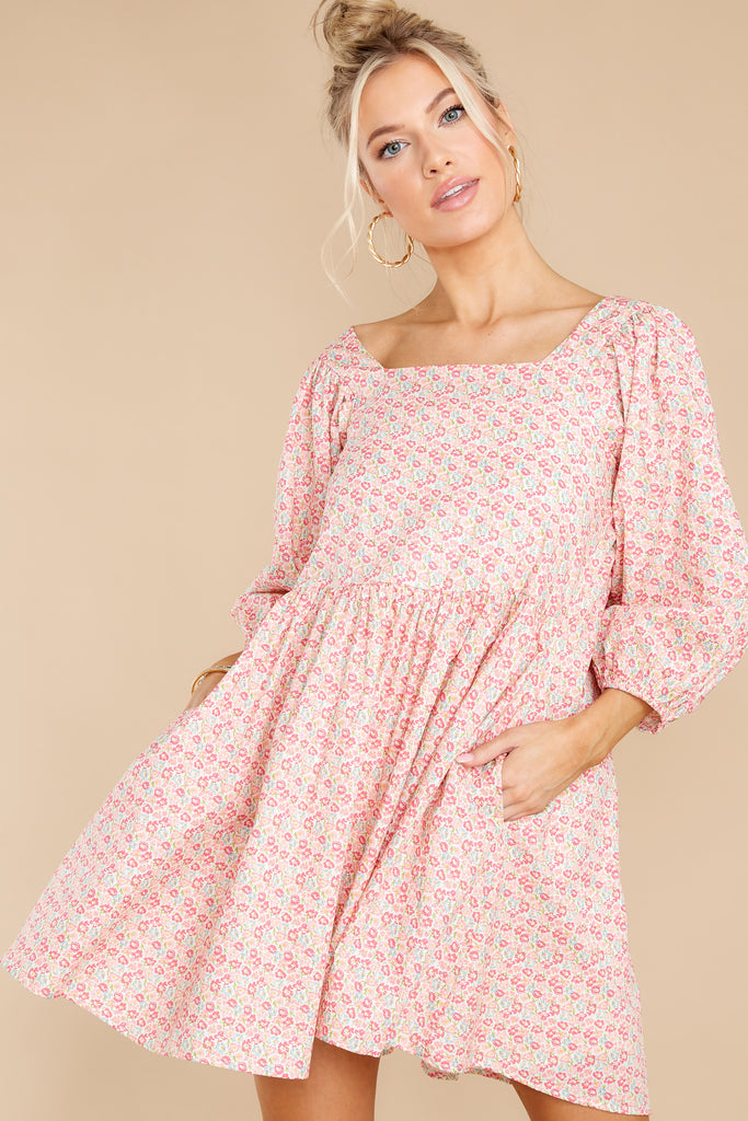1 It's Your Choice Pink Floral Print Dress at reddress.com