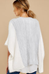 9 Ease To It Light Heather Grey Eyelash Cardigan at reddress.com