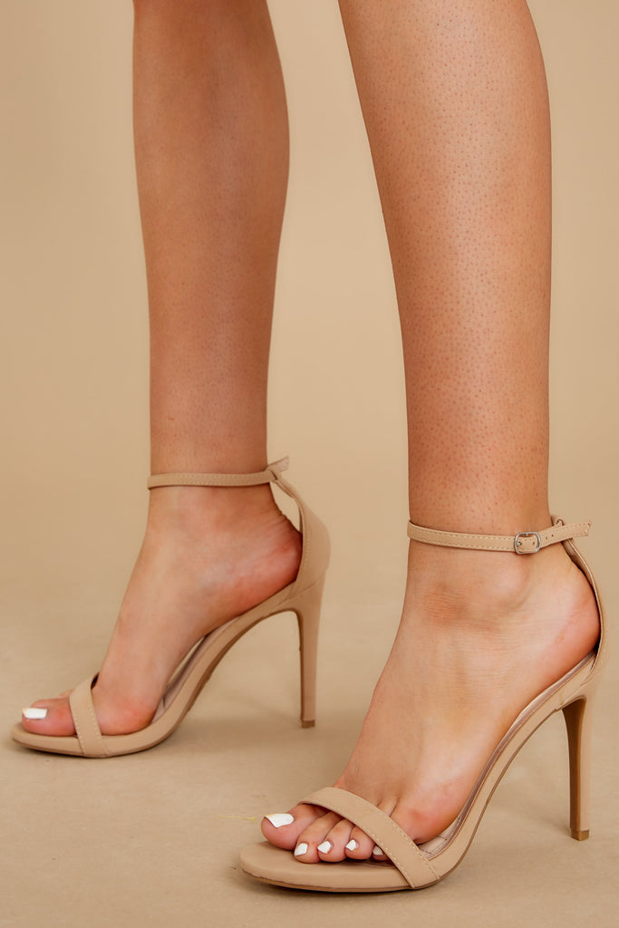 6 Plans To Dance Gold Ankle Strap Heels at reddressboutique.com