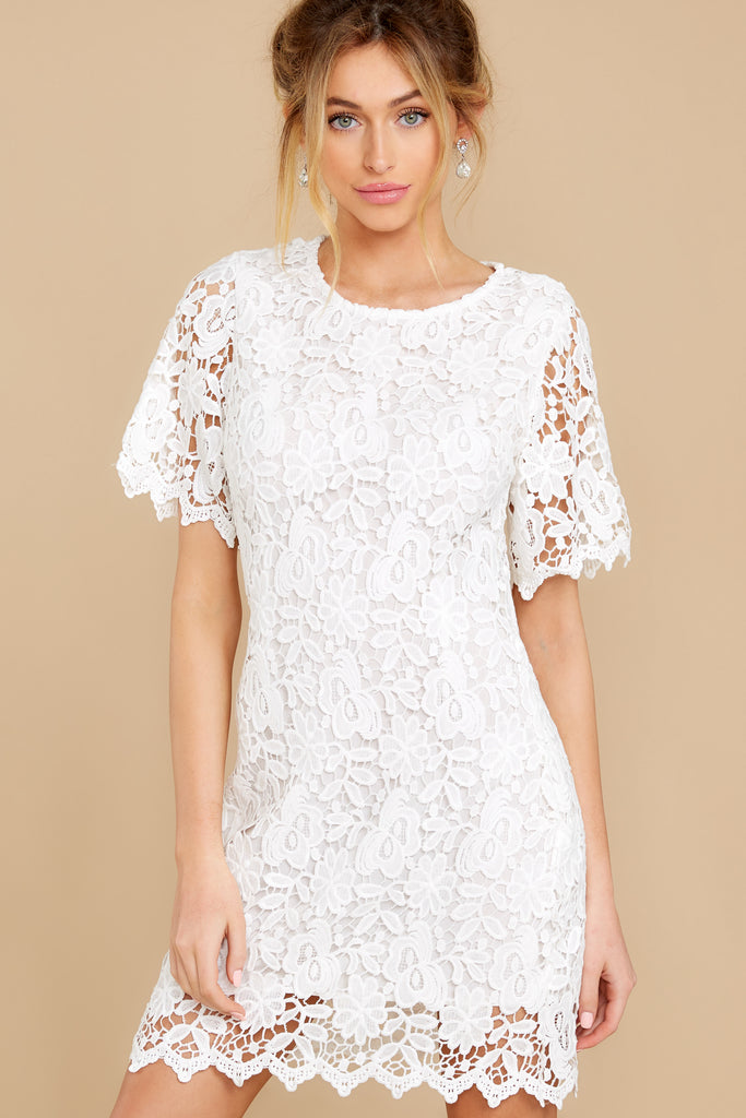 1 May This Be Love White Lace Dress at reddressboutique.com