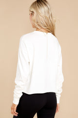 8 TLC Ain't Too Proud Vintage White Long Sleeve Crop Top at reddress.com