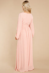 8 Going For This Peach Maxi Dress at reddress.com