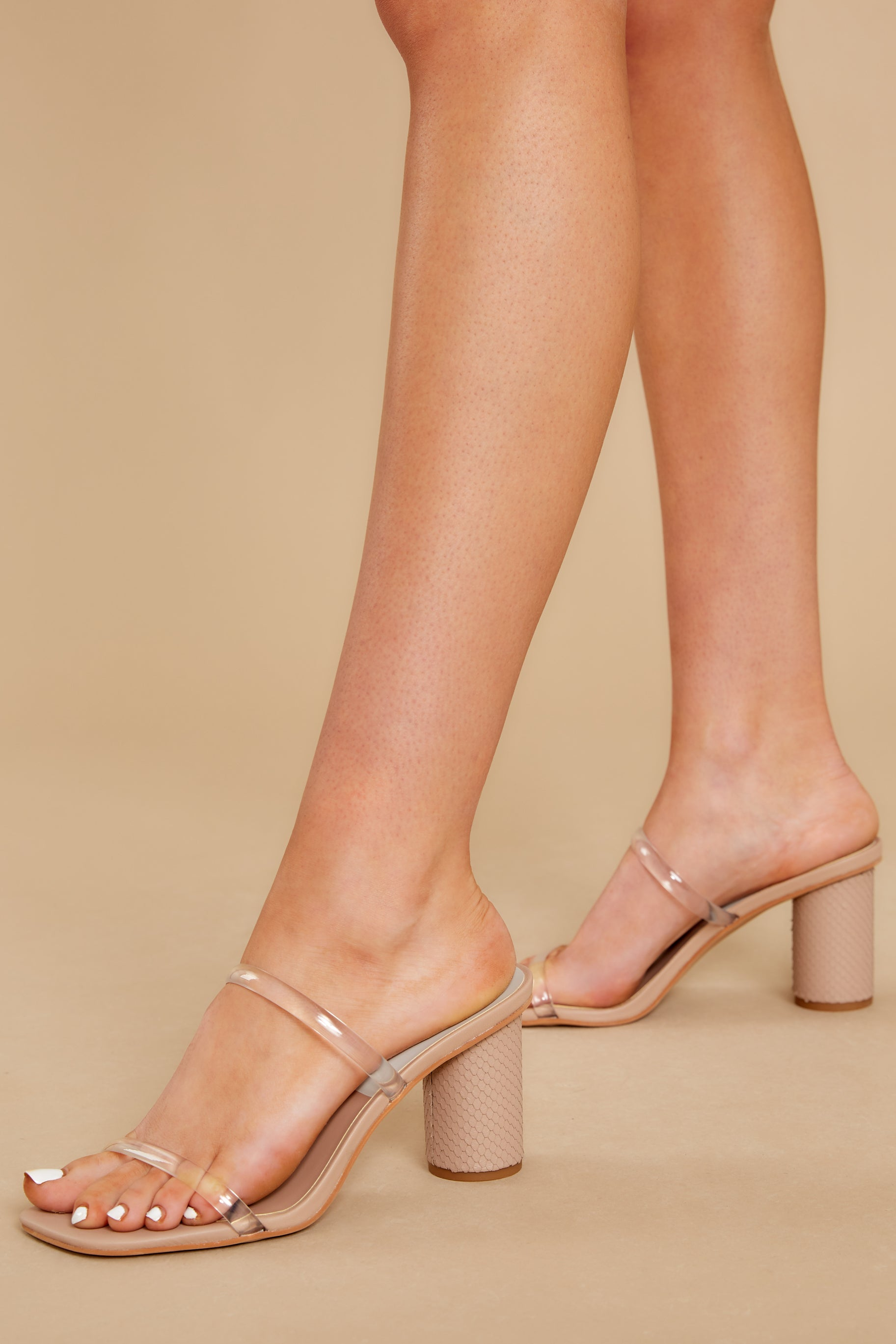 1 Noles Nude High Heel Sandals at reddress.com