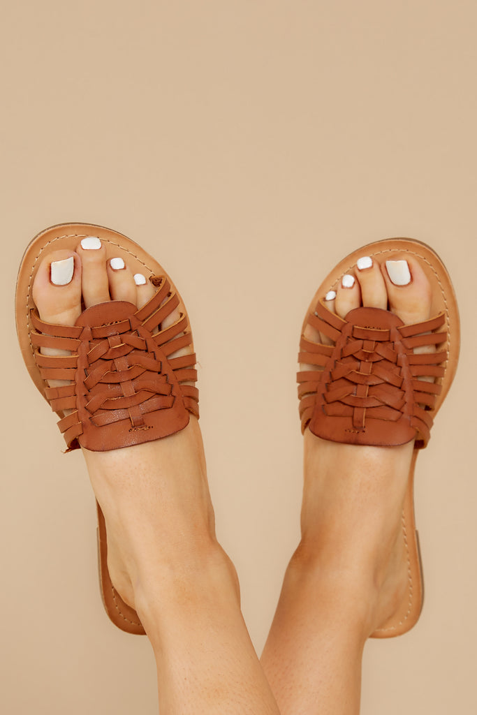 Know The Way To You Camel Flatform Sandals
