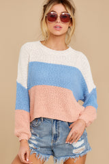 6 Well Said Cream Multi Stripe Sweater at reddress.com