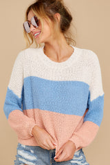8 Well Said Cream Multi Stripe Sweater at reddress.com
