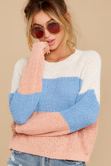 1 Well Said Cream Multi Stripe Sweater at reddress.com