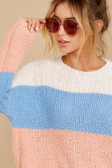 2 Well Said Cream Multi Stripe Sweater at reddress.com