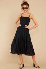 3 Eternal Sunshine Black Midi Dress at reddress.com