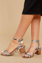 4 Going Up And Up Snakeskin Ankle Strap Heels at reddress.com