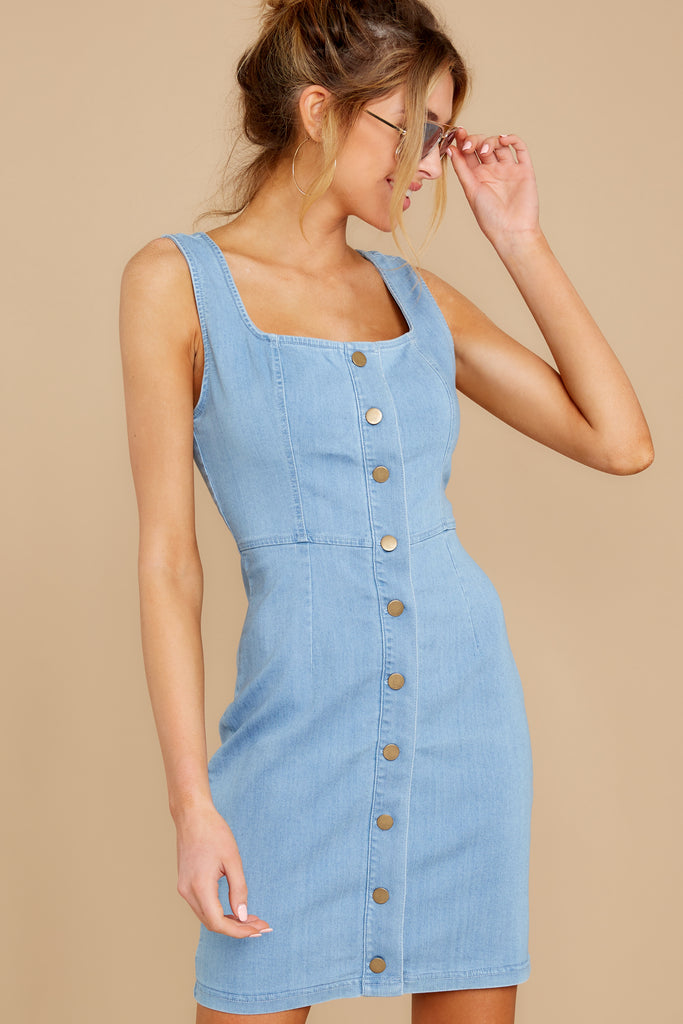 3 Not By Coincidence Denim Blue Shirt Dress at reddress.com