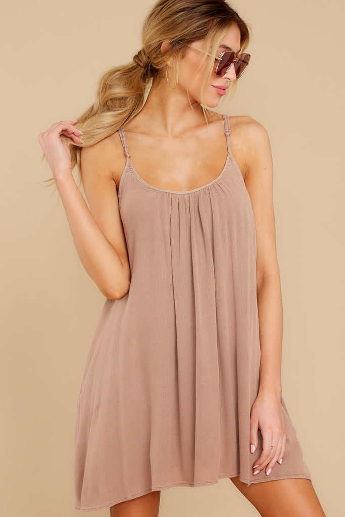 2 Not So Basic Caramel Brown Dress at reddress.com