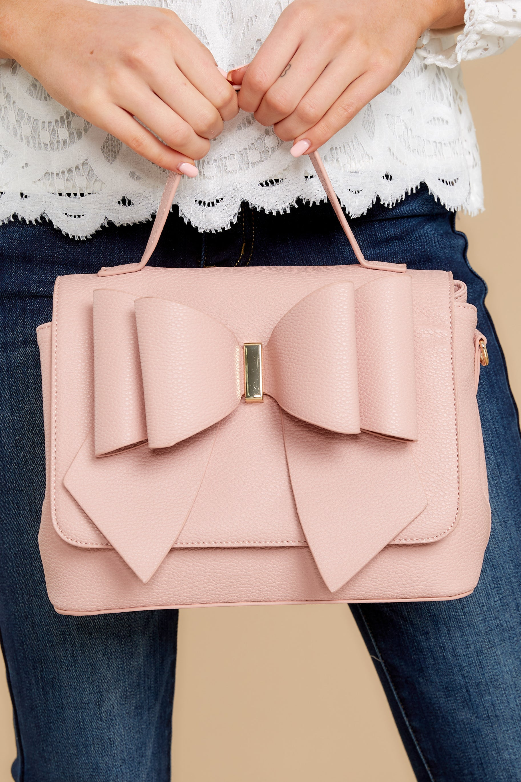 1950s Handbags, Purses, and Evening Bag Styles Bet On It Pink Bag $42.00 AT vintagedancer.com