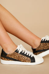 1 Nino Dark Leopard Sneakers at reddress.com